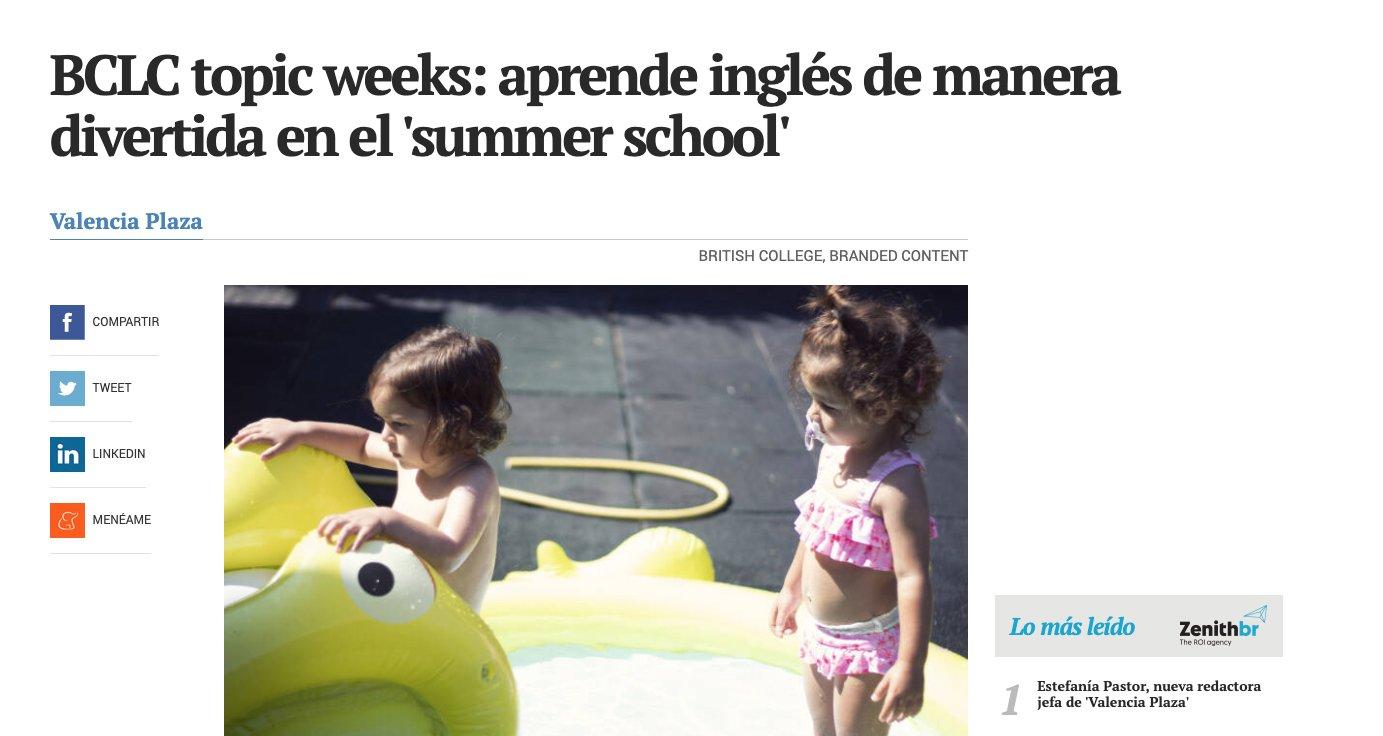 Nuestro Summer School en Valencia Plaza